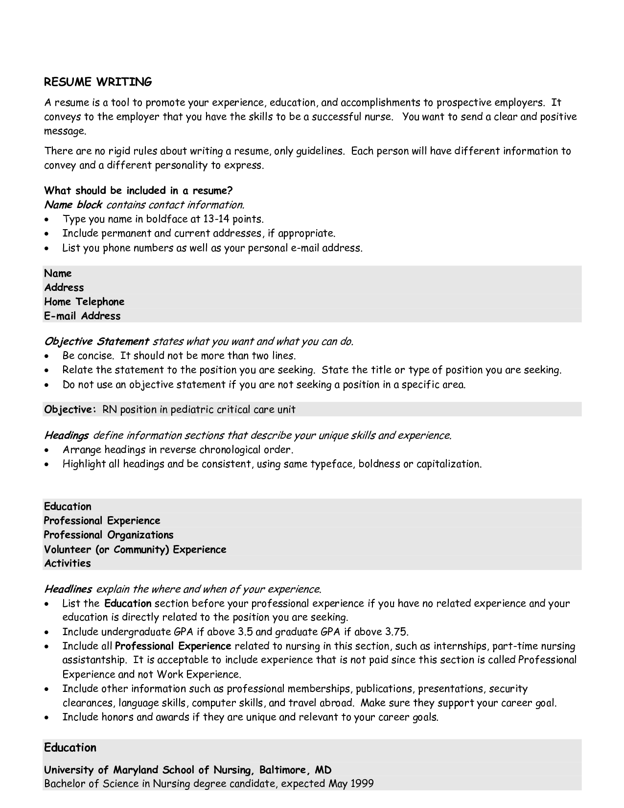 Customer service statement for resume