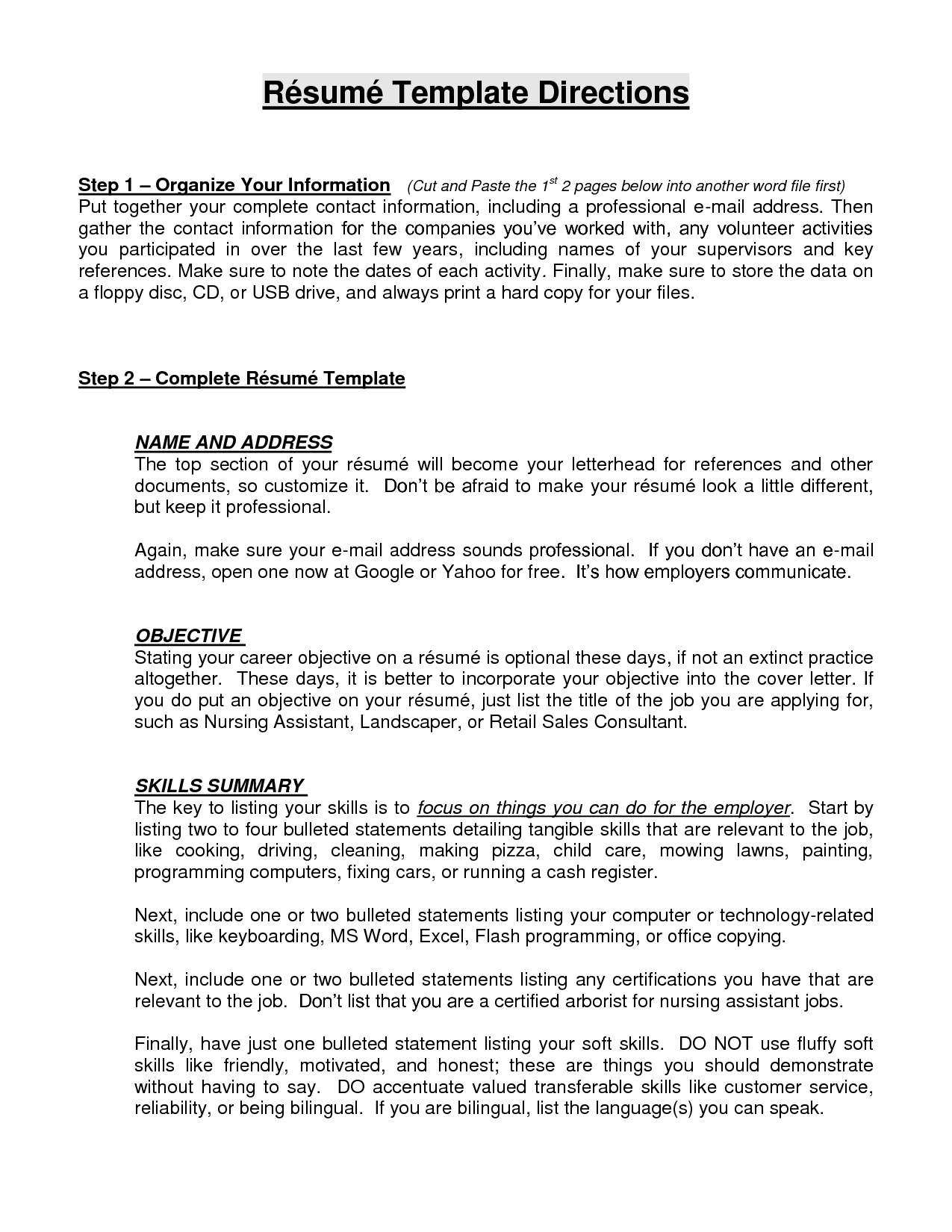 resume building objective statement - Excellent Resume Objective Statements