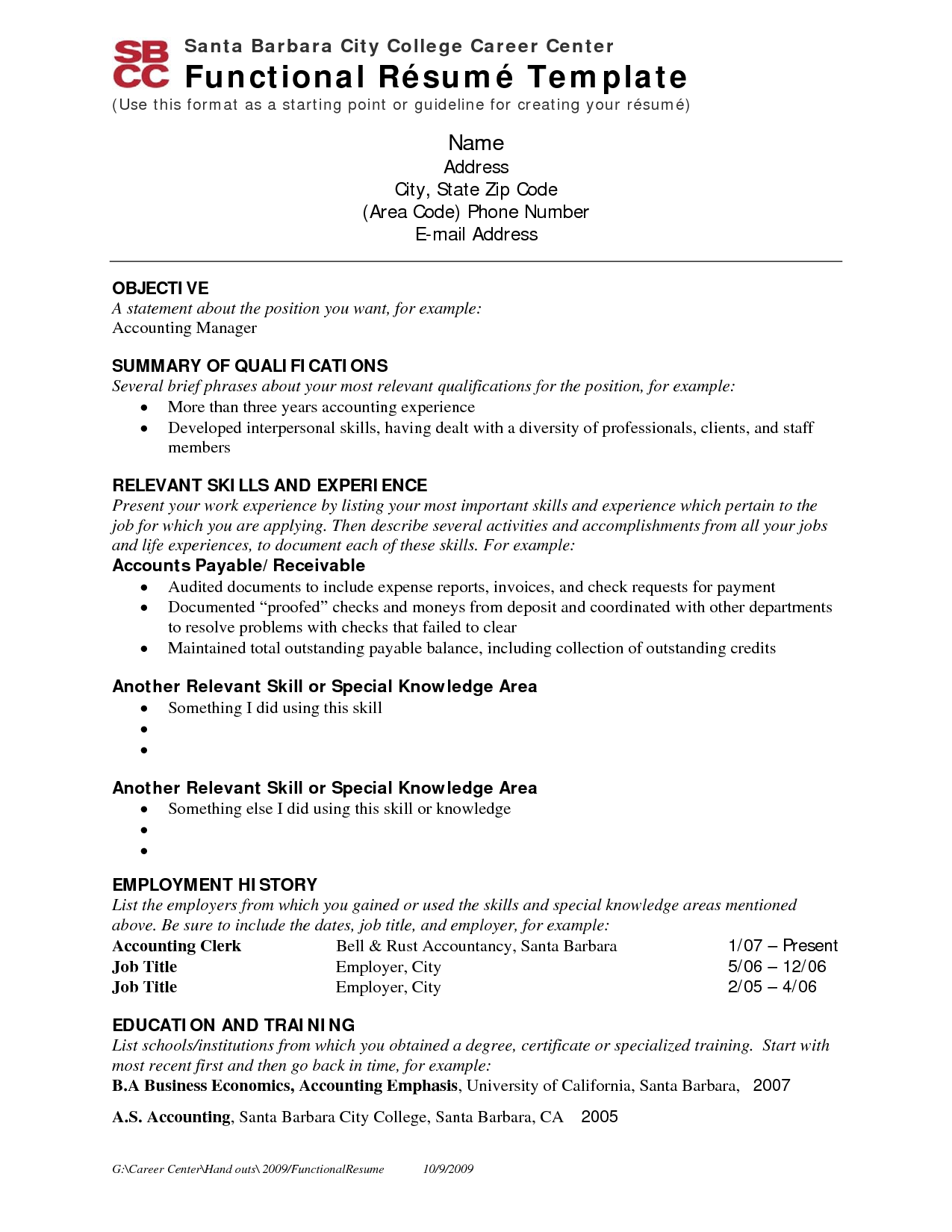 resume sample for employment - Free Resumes For Employers