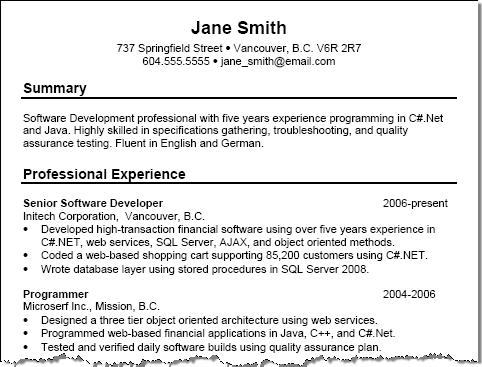 sample summary of qualifications on resumes