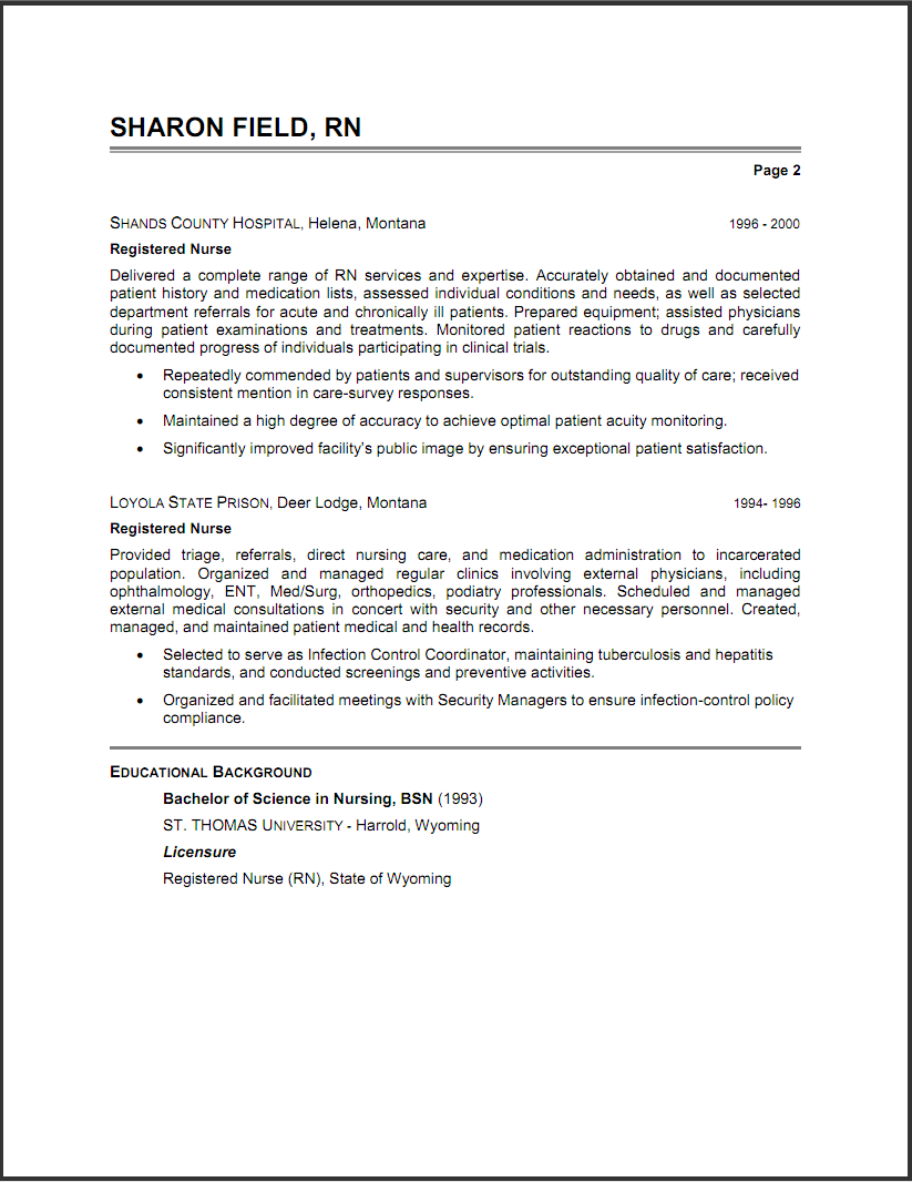 example summary for resume - Resume Summary Example