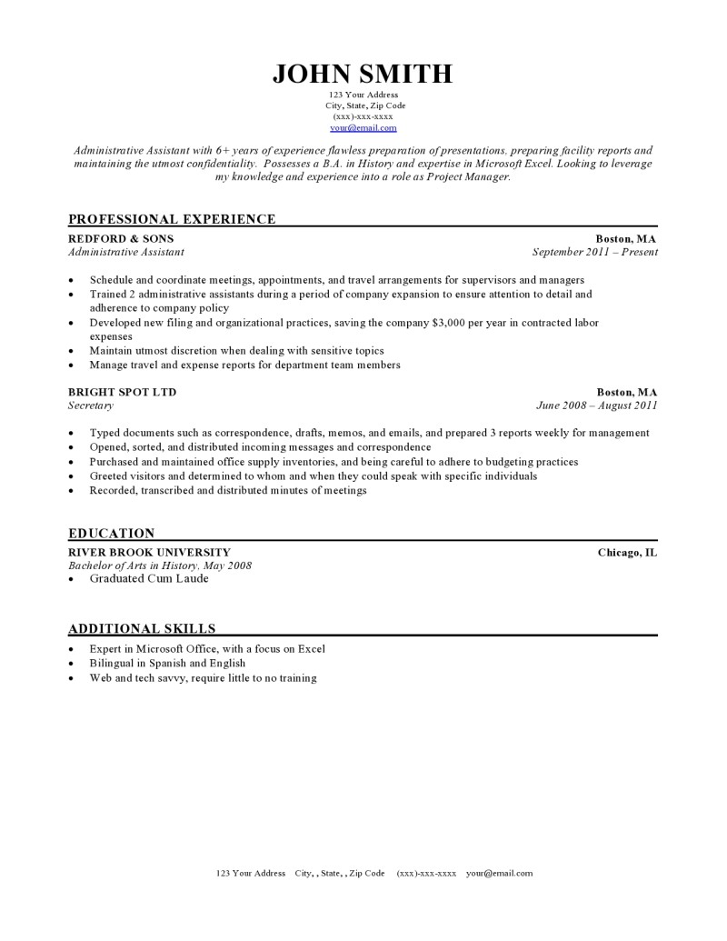 Resume templates for Ressume template