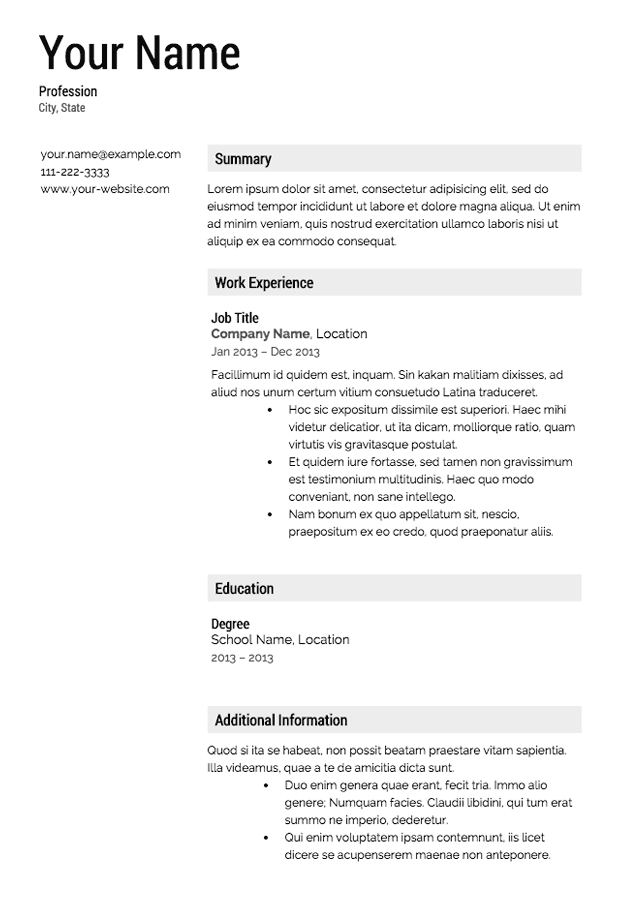 Resume CV Cover Letter  microsoft word      resume template