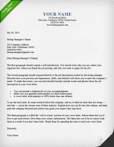 Etonnant Sample Cover Letter Format For Job Application