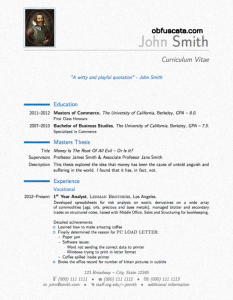 Latex Resume Templates