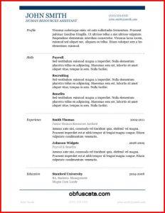 Microsoft Resume Templates
