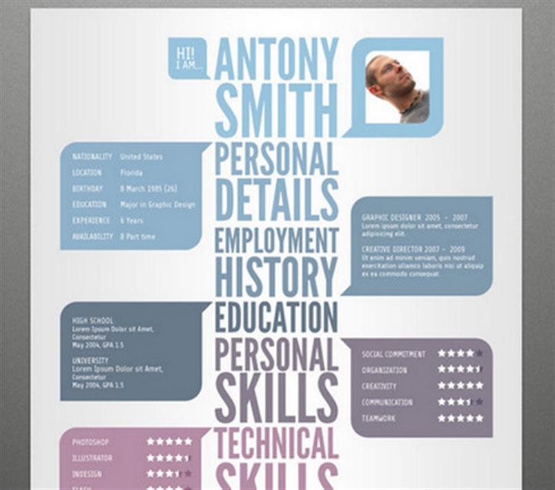 Resume Template Download Creative Cv Template Resume: Creative Resume Templates