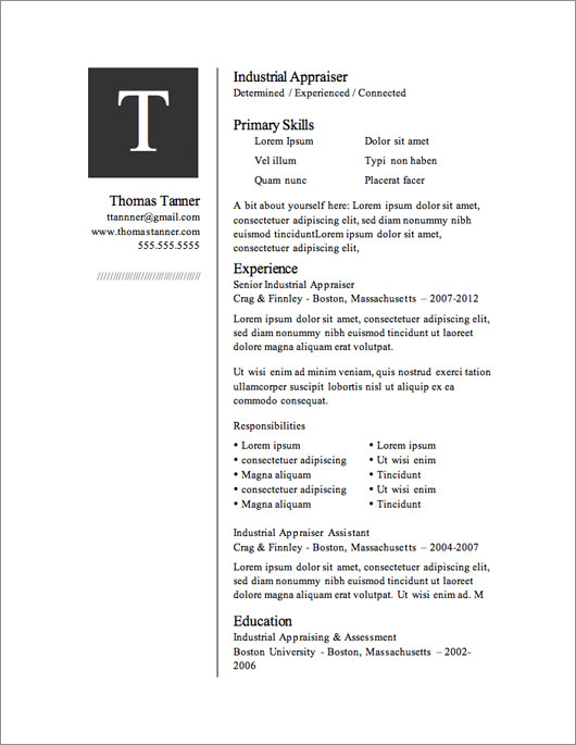 free downloadable resume templates - Resume Free Templates
