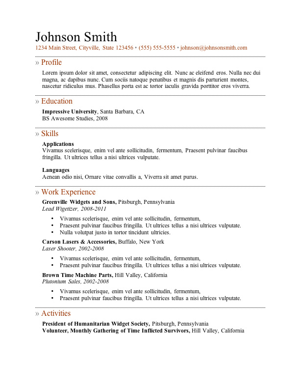 Resume Templates Cover Letter  Obfuscata