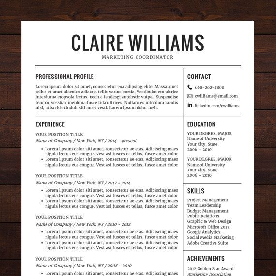 12 Creative Resumes Bundle. Free Downloadable Resume Template