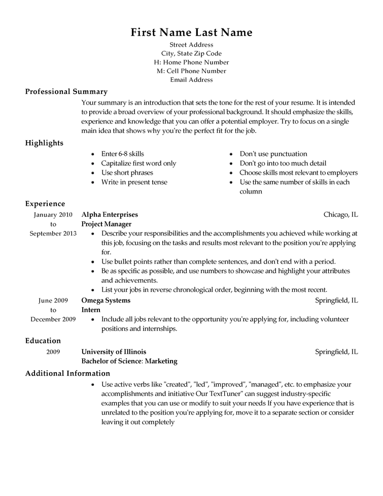 a resume template resume ideas