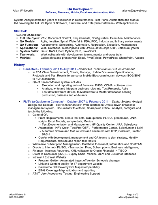 Capsule Resume