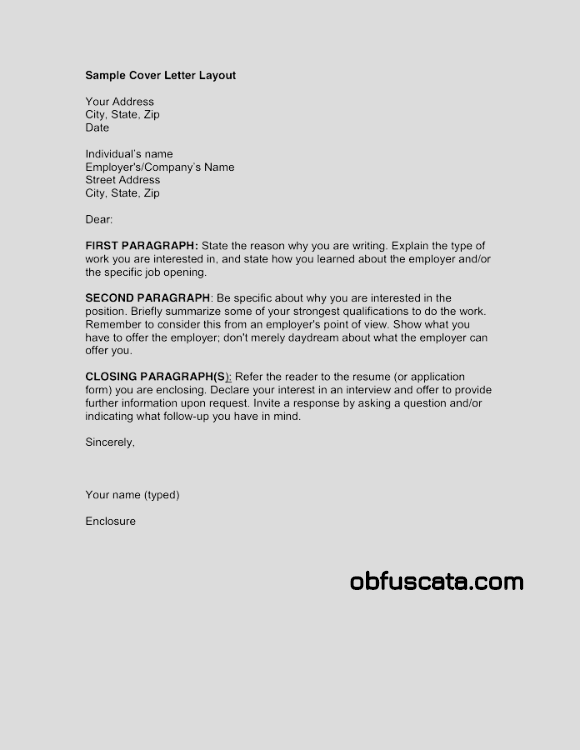 Cover letter explaining qualifications for Cover letter expressing interest in company