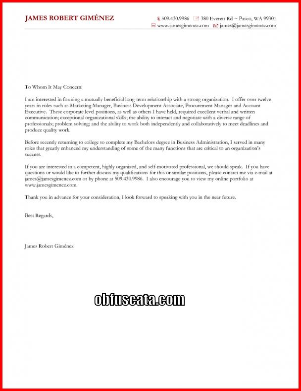 good general cover letter
