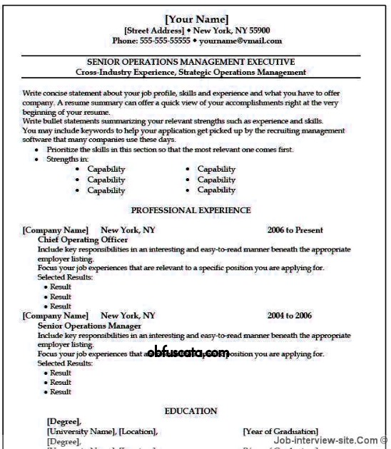 how to make resume easy to read