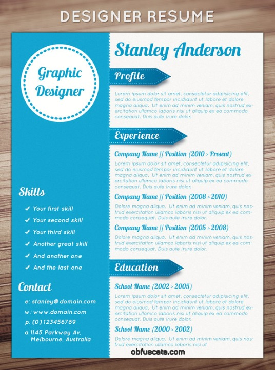 amazing resume template