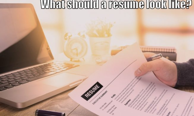 What Your Resume Should Look Like