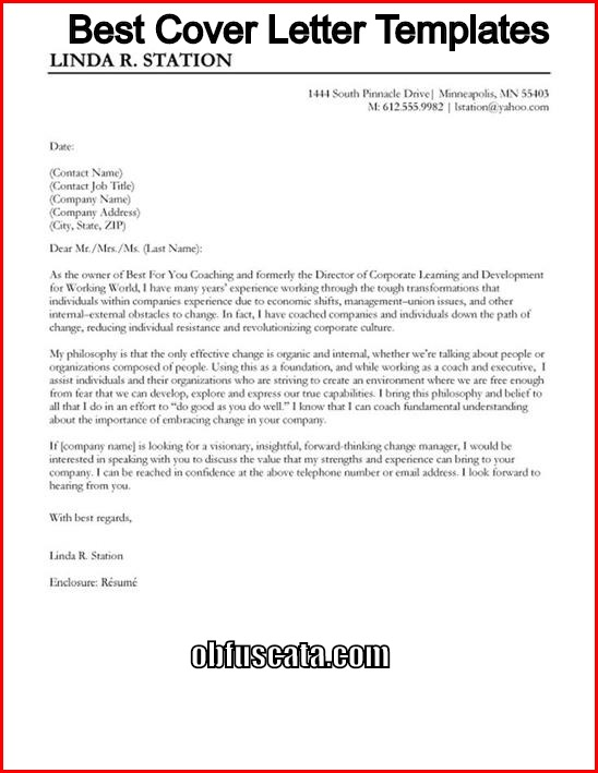 Best Cover Letter Templates