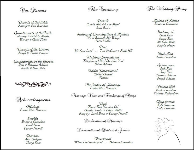 Best Wedding Program Templates