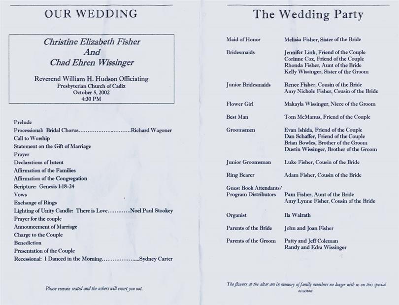 best wedding program templates. Black Bedroom Furniture Sets. Home Design Ideas