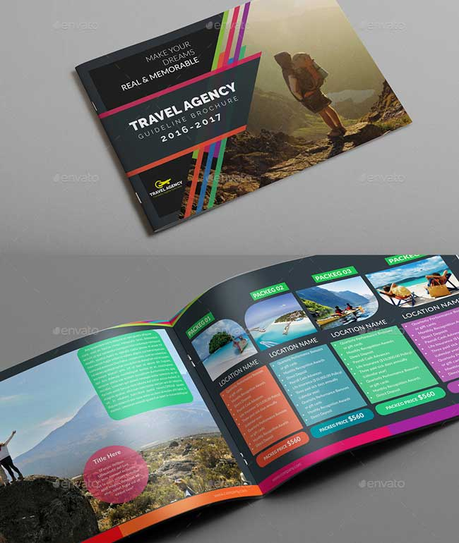 travel guide brochure template - best brochure templates
