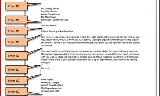 business letter set up