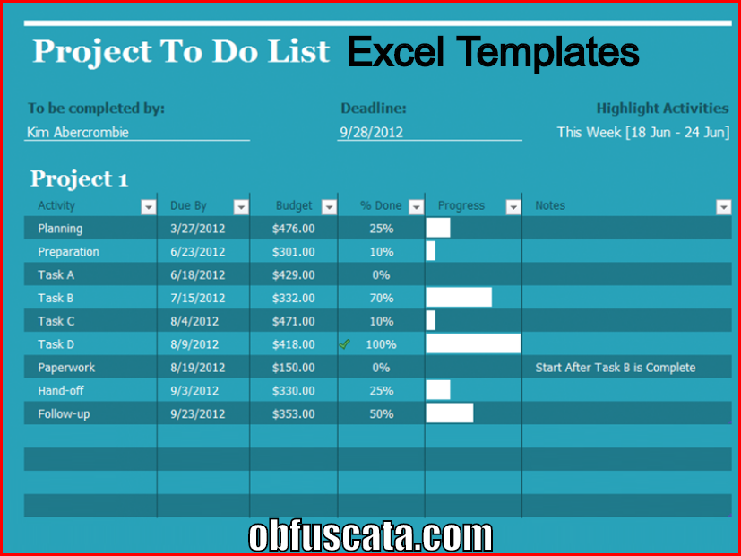points to note in excel template