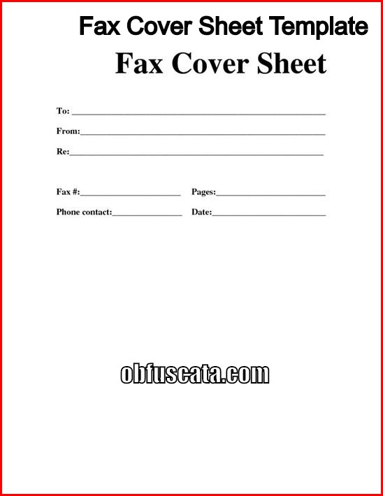Best fax cover sheet templates altavistaventures Gallery