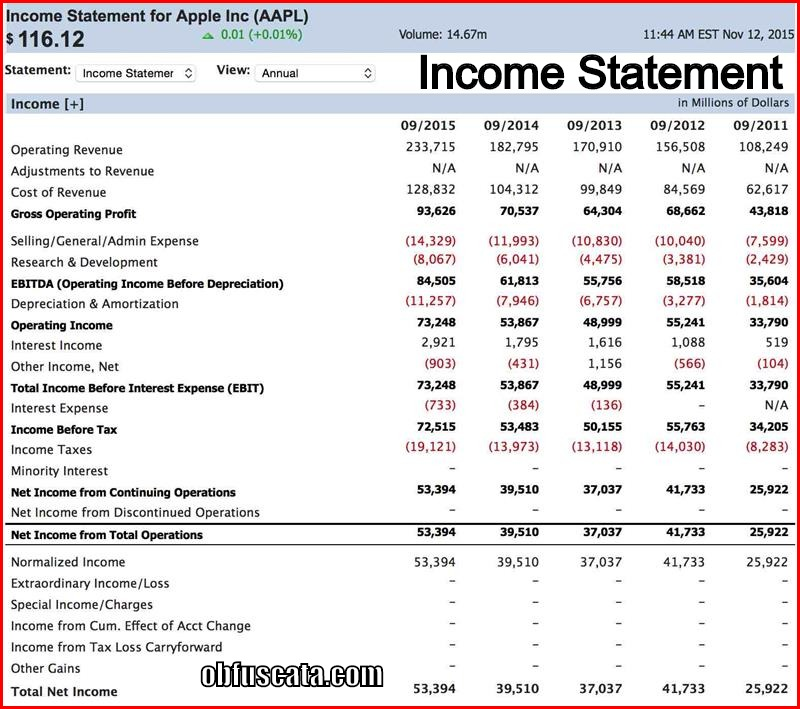 Income Statement Spreadsheet: What Is Income Statement?