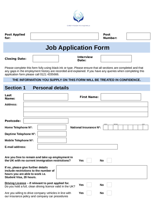 where can you find application