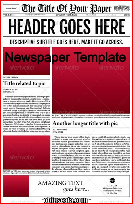 Points to note in a newspaper template for Create your own newspaper template