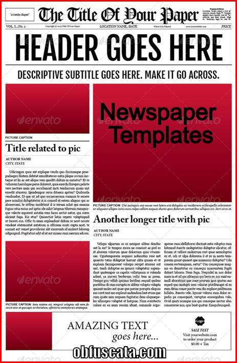 Where can you find a Newspaper Template?