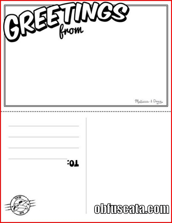Photo Postcard Template postcard template obfuscata postcard – Free Postcard Template for Word