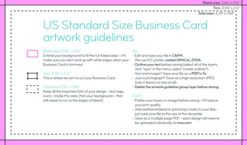 What is the standard business card size standard business card size colourmoves