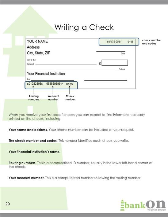 how to read the account number on a check