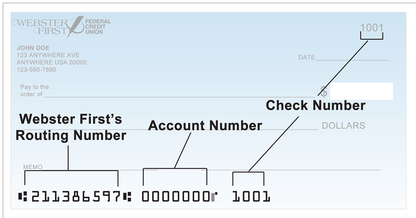 Account Number of Check