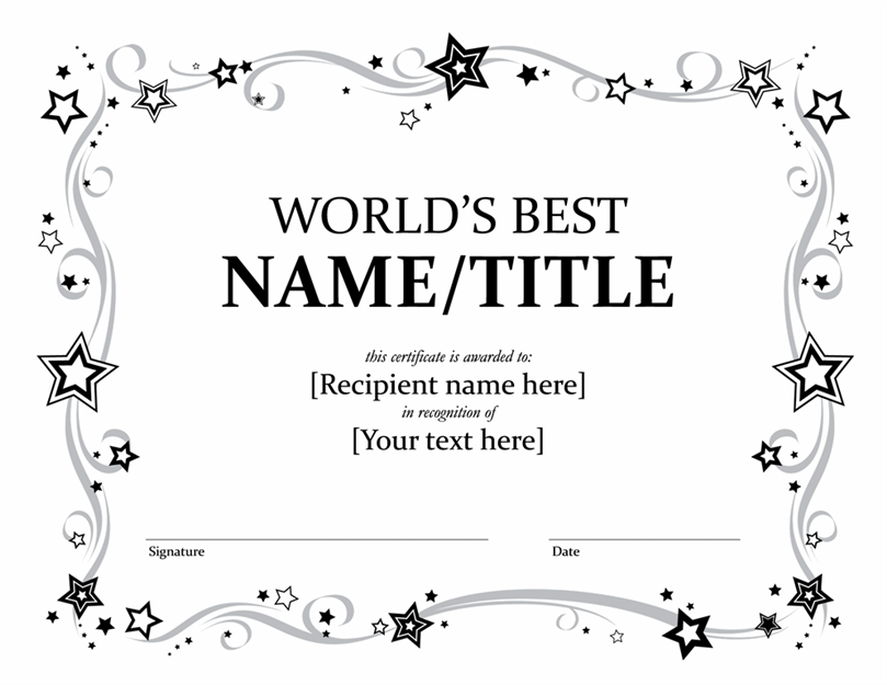 Best Certificate Template