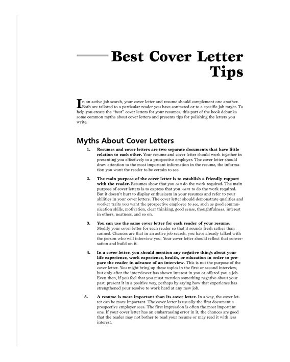 how to write a good cover letter for job