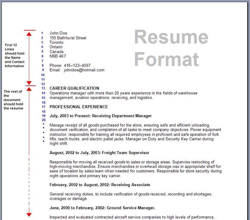 Best Resume Format  Best Format Resume