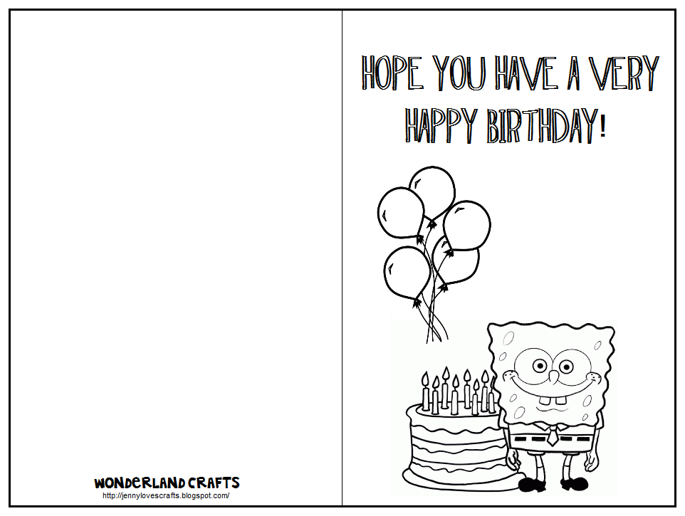Birthday Card Template - Card template birthday