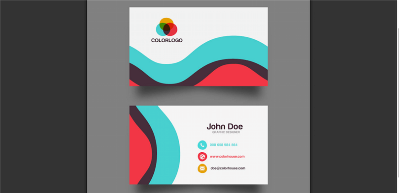 What is business card template for Design my office online