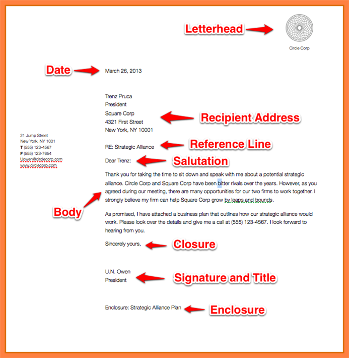 Writing a business letter in right format business letter format accmission Image collections