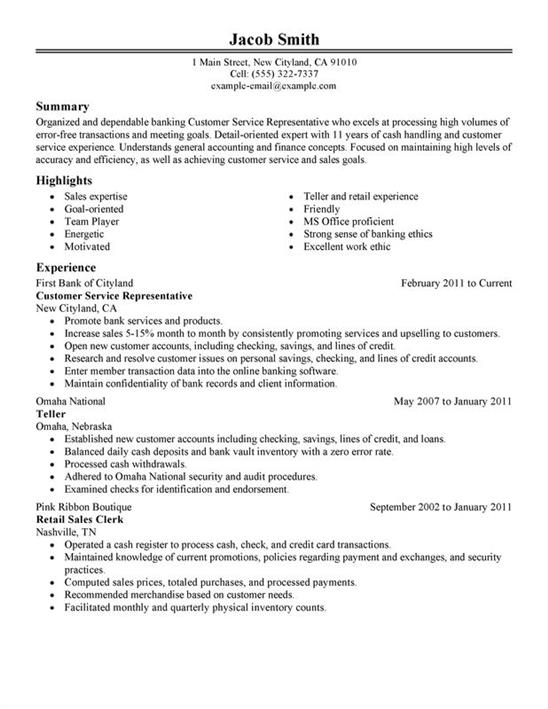 how to create an impressive customer service resume