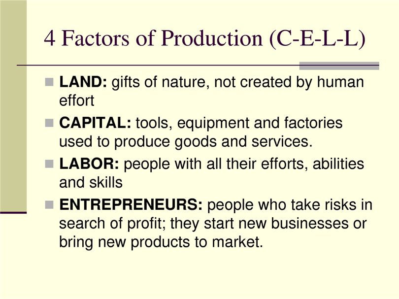 factors of production essay Free factors of production papers, essays, and research papers.