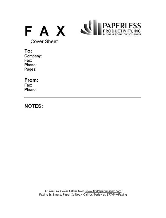 sample fax cover letter templates