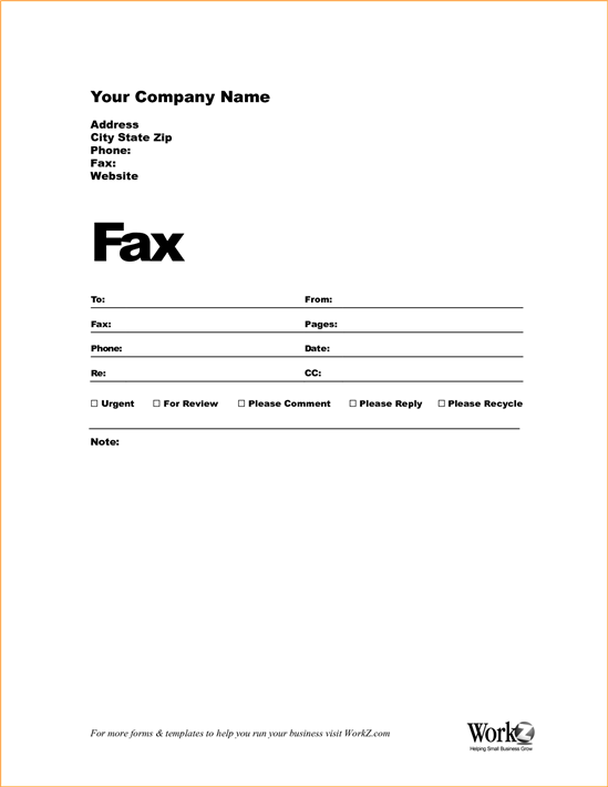 Fax Cover Sheet Template  Fax Cover Sheets Templates