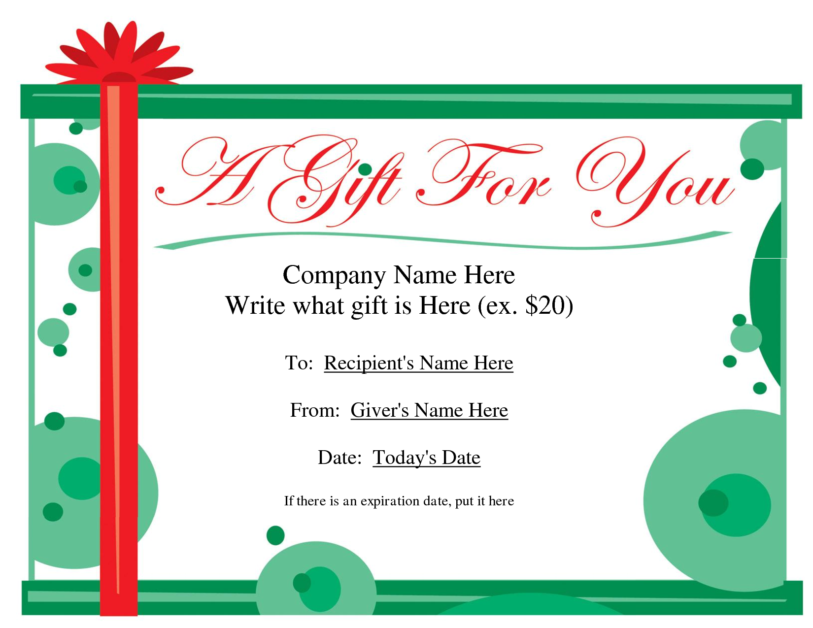 What it is a gift certificate template gift certificate template alramifo Images