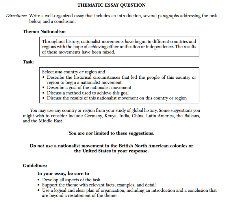 us history regents essay answers Thematic review of us history & government:summary1 thematic review of us history & government:2 review resources: change citizenship & civic values constitutional principles culture & intellectual life diversity economic systems environment foreign policy geography government human systems & society immigration & migration individuals, groups & institutions.