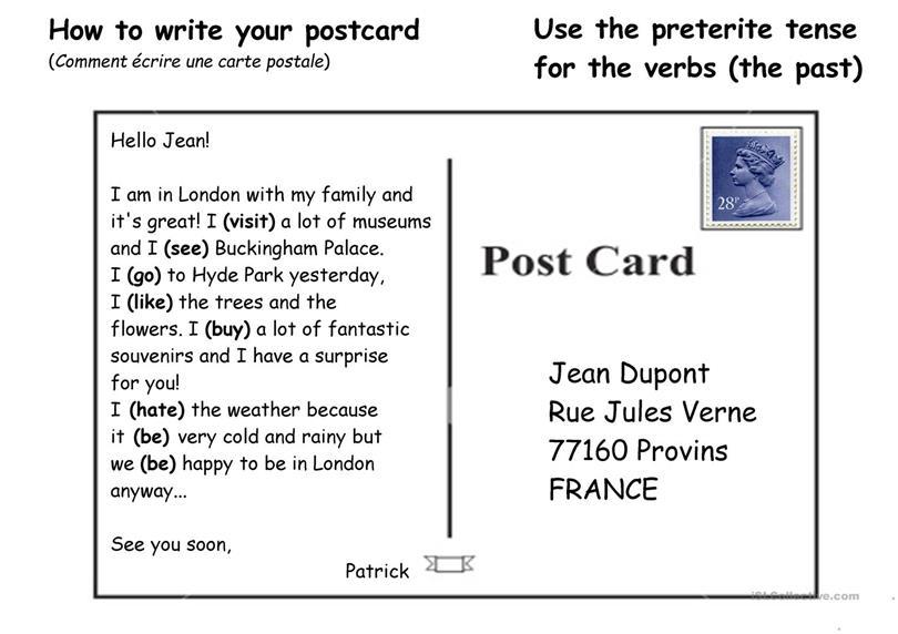 How to Write a Postcard?