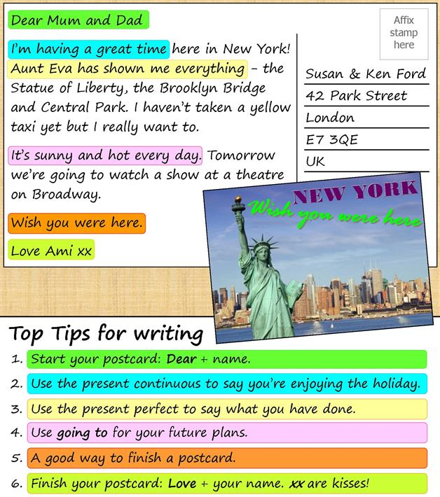 How to Write a Postcard?